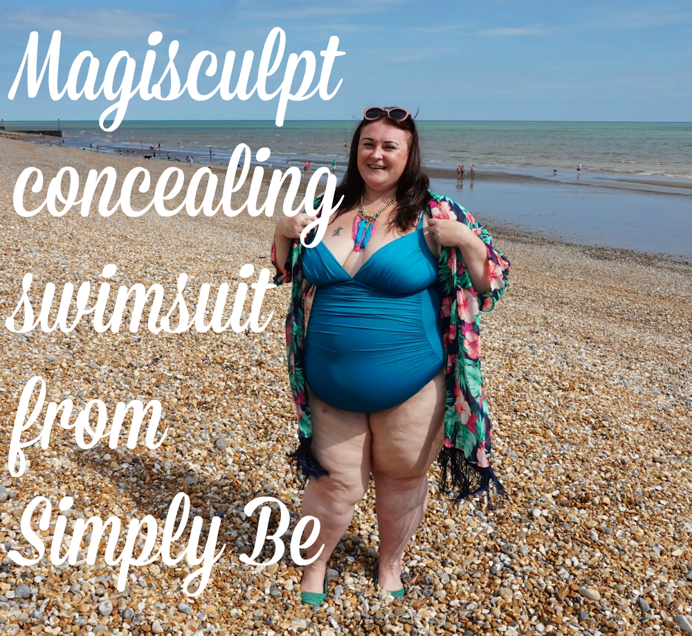 MAGISCULPT-CONCEALING-SWIMSUIT-SIMPLY-BE PLUS SIZE TEAL SWIMMING COSTUME SWIMSUIT