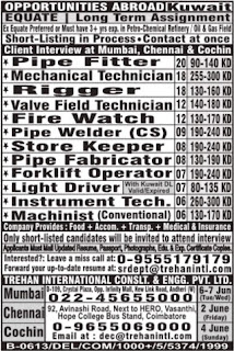 Equate long term project jobs in Kuwait
