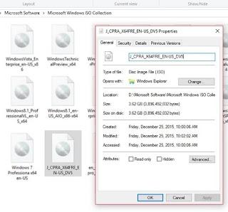 Inilah Cara Melihat Detail Informasi dari File ISO Windows