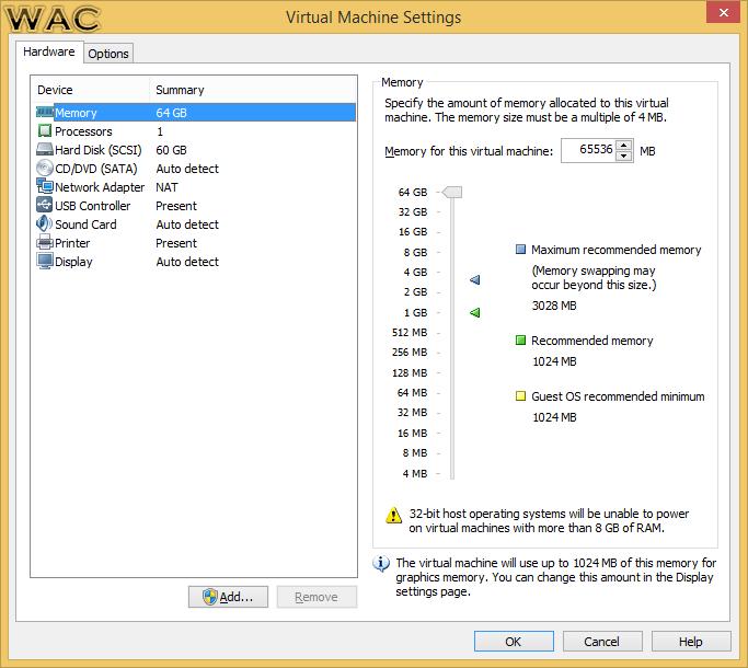 vmware linux machine
