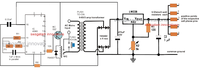 Cell Phone Charger with Timer Circuit