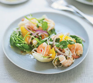 orange and prawn noodle salad recipe