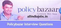 Policy Bazaar Interview Questions