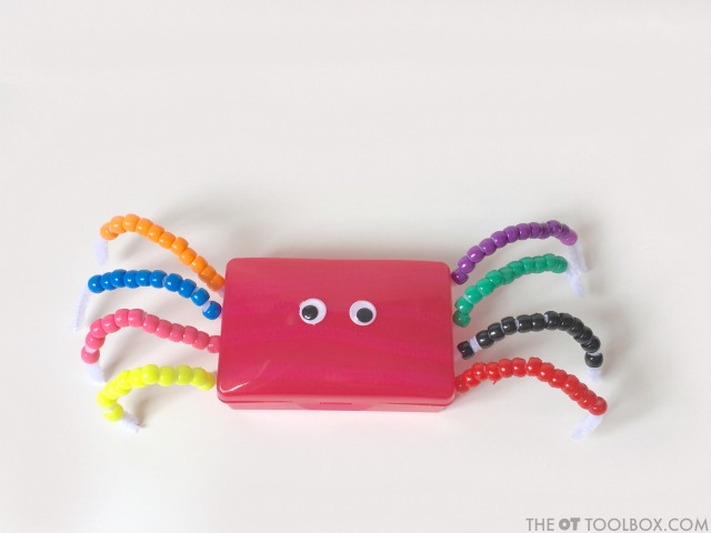 Kids can make this soap holder animal fine motor craft to work on fine motor skills and other areas they need for holding a pencil and in handwriting.