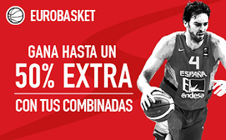 sportium Eurobasket 2017 50% extra en Combinadas