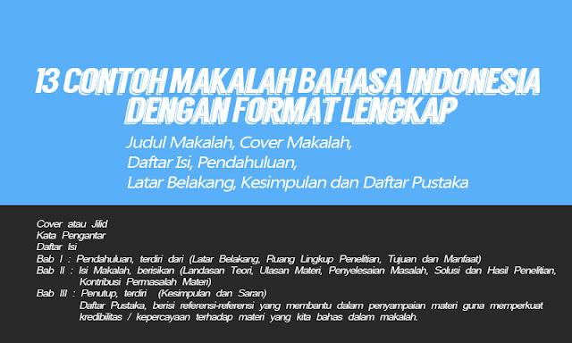Contoh Makalah Bahasa Indonesia Dengan Format Lengkap Idn Paperplane