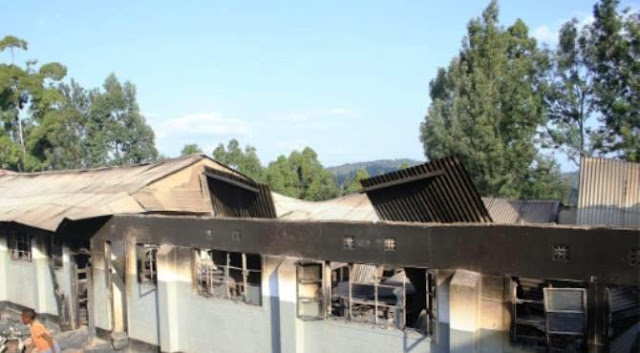 A burnt-out dormitory building at Itiero boys high school in Kenya's Kisii county, set on fire by students during a night of unrest. By (AFP)  Nairobi (AFP) - Dozens of secondary schools across Kenya have been deliberately set on fire, but as the authorities struggle to pinpoint why, fractious relations between pupils, teachers and a controversial education minister offer clues.