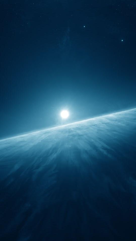 Moon Horizon   Galaxy Note HD Wallpaper