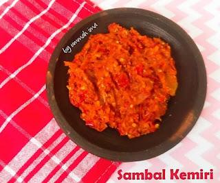 Resep Sambal Kemiri By @fathimahzein