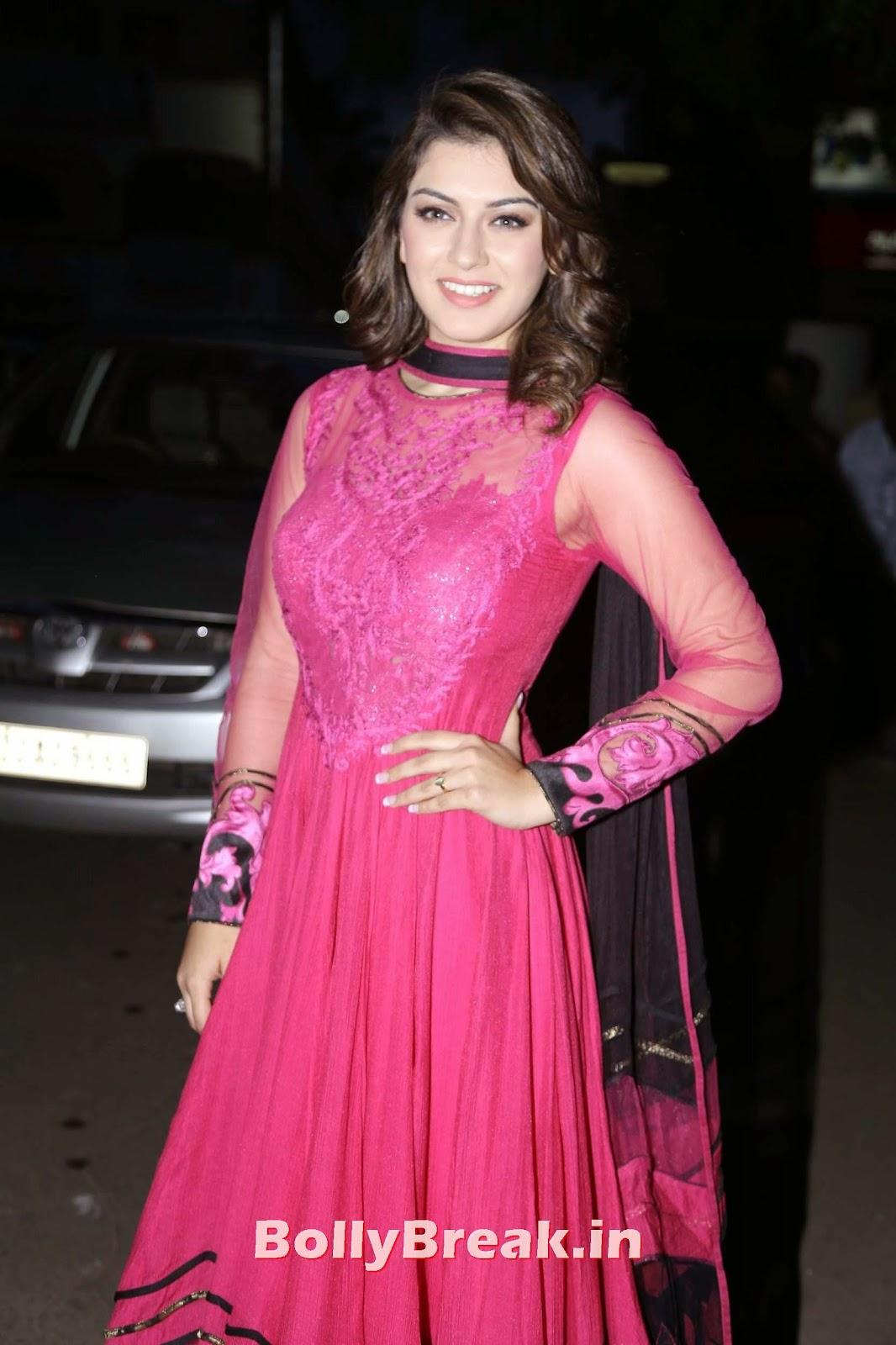 , Hansika Motwani super Hot HD Pics in Pink Anarkali Dress