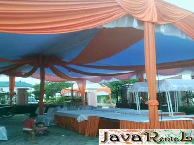 Sewa Tenda Semi Dekor - Murah