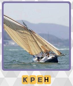 крен яхты на воде 4 уровень в игре 600 слов