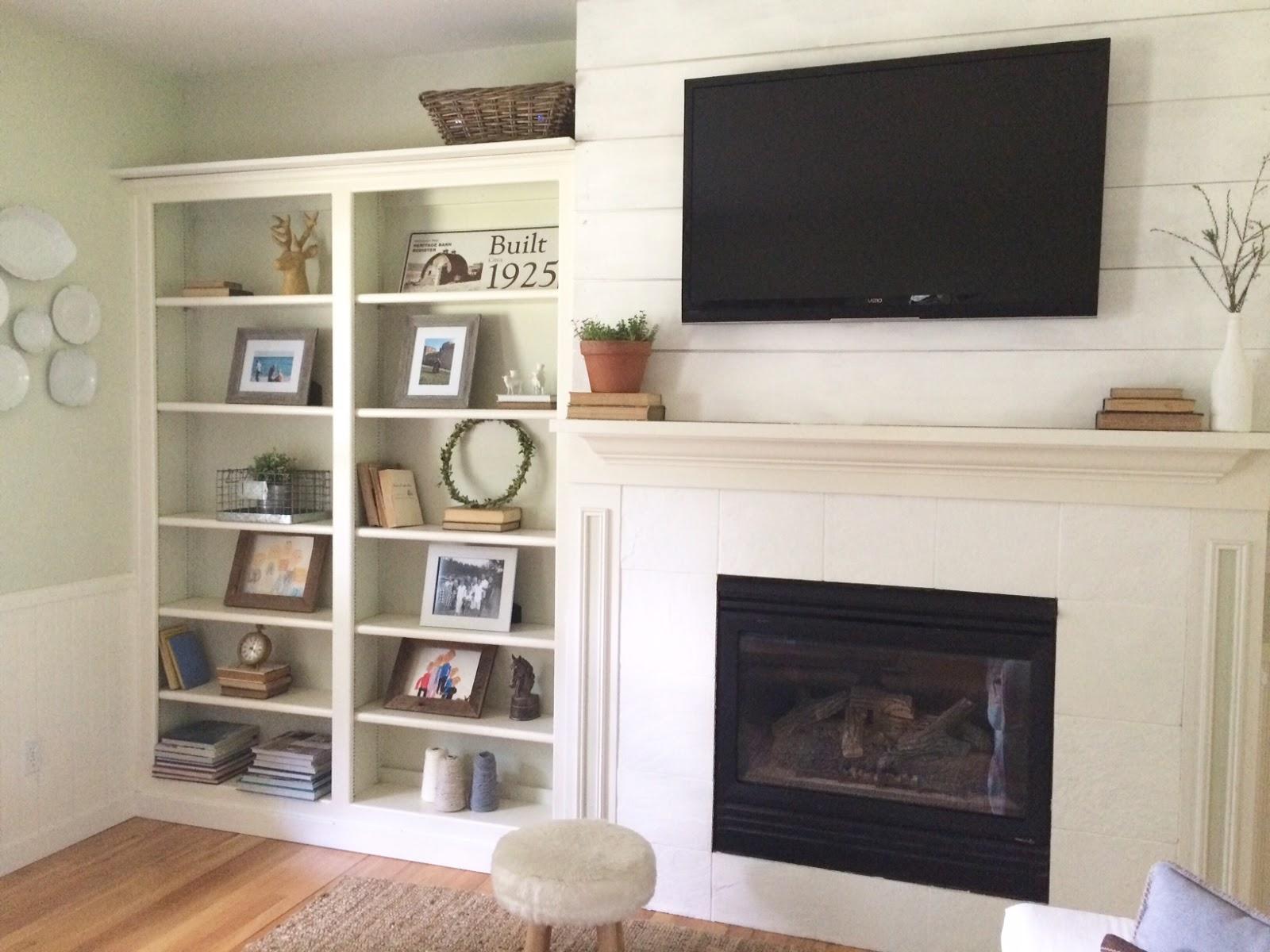 little farmstead farmhouse style shiplap update fireplace