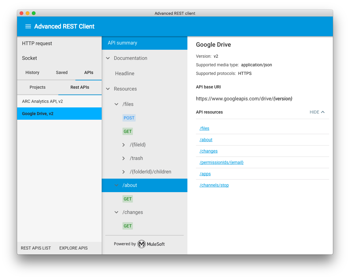 Advanced REST client application