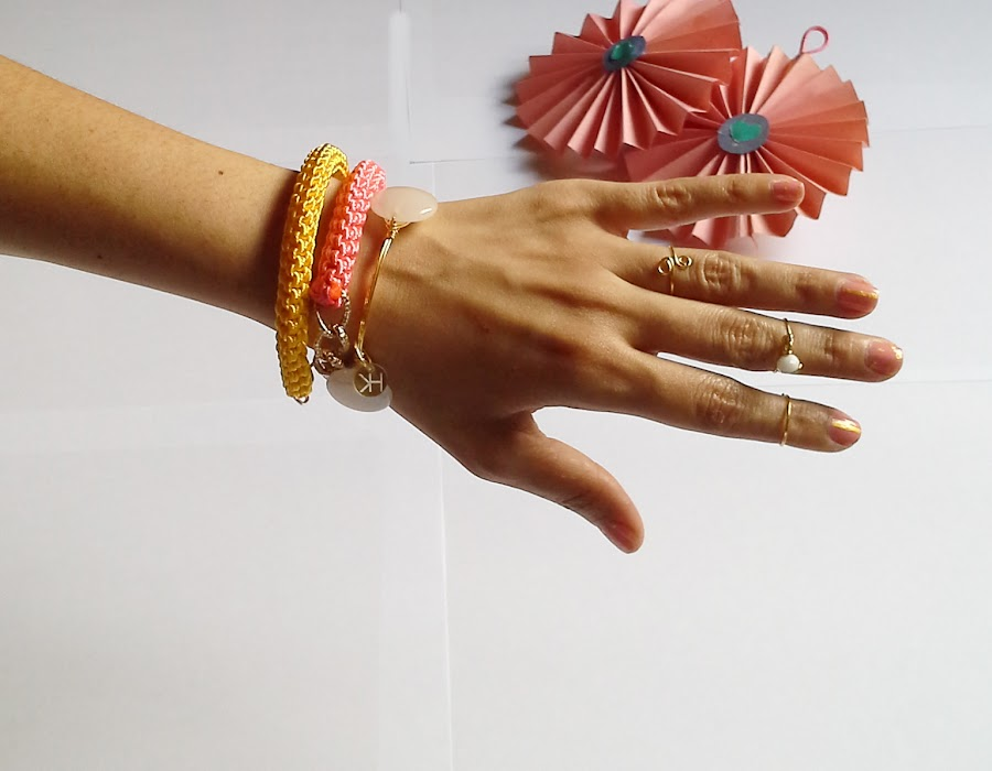 brazaletes de nudo DIY