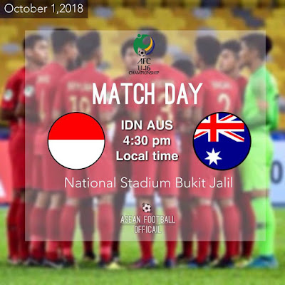 Live Streaming Indonesia vs Australia AFC U16 1.10.2018