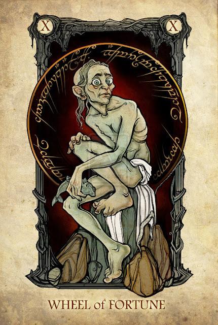 Senhor dos anéis em cartas de tarô - Roda da fortuna