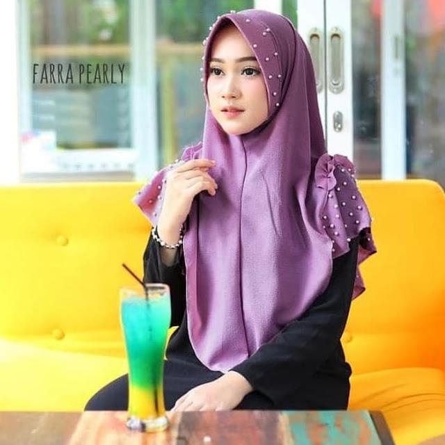 Jilbab Instan FARRA Pearly MUTIARA Terbaru Elegan Syari