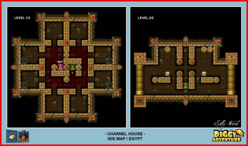 Diggy's Adventure Walkthrough: Egypt Isis / Charnel House