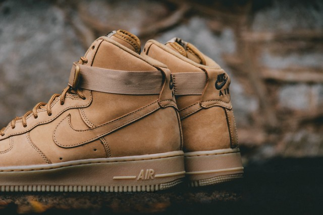 huge discount c3d10 5b7a8 806403-200 Nike Air Force 1 High  07 LV8 Flax Wheat Collection