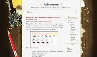 Adventure -  Diary Blogger Template - edu blog