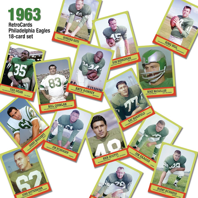 Topps 1963 football cards