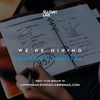 Lowongan Keja Staff Digital Marketing Sunday Lab Surabaya