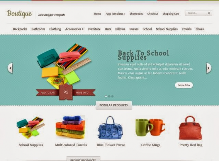Boutique e-shopping Blogger Template Free Download - Free Blogger ...