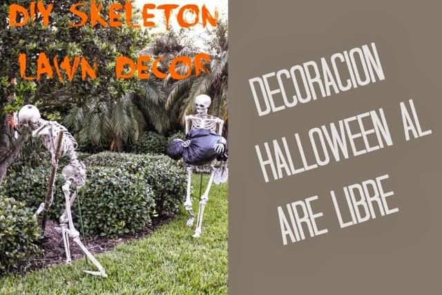 decoración halloween, jardín, aire libre, casa, hogar, fiesta