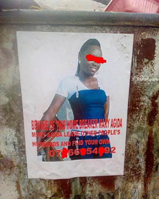 Home breaker: Woman prints posters of her husband's sidechic on Calabar streets