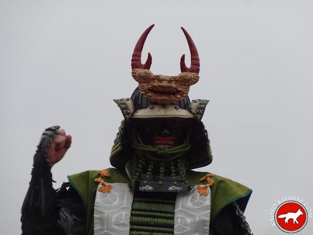 samouraï lors de la fête du château de Fushimi à Kyoto