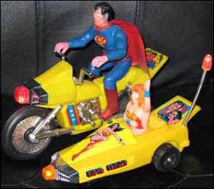 Superman en motocicleta