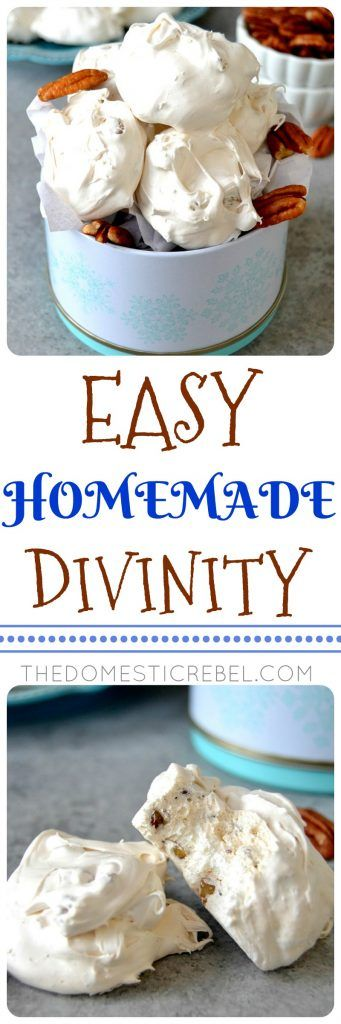 Easy Homemade Divinity Candy