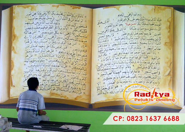 Lukis Dinding Kaligrafi Masjid