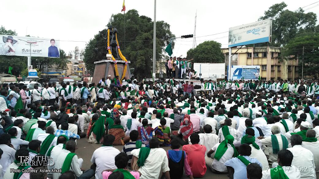 Farmers stage protest in Belagavi: Urges govt. to fulfil their various demands - Truth Arrived