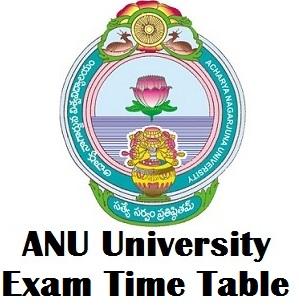 ANU Exam Schedule 2017 @ www.nagarjunauniversity.ac.in