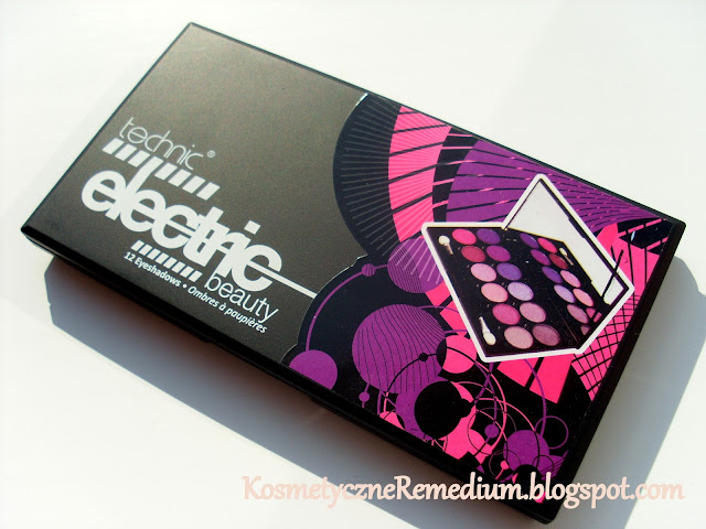 Technic Electric Beauty, Technic Electric Beauty paleta 12 cieni, Technic 2 paleta w stonowanych kolorach.,