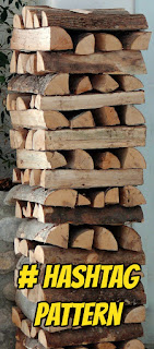 hashtag pattern fire wood stack 2