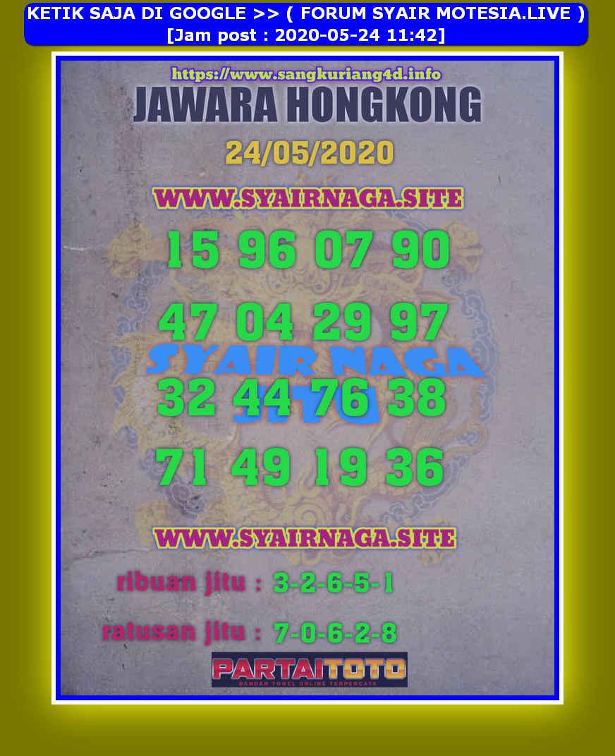 Kode syair Hongkong Minggu 24 Mei 2020 174
