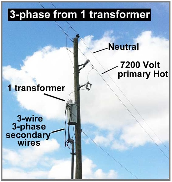 3 Phase To Single Transformer Wiring Diagram Earth Labeled How Wire 3-phase From 1 Transformer? - Eee Community