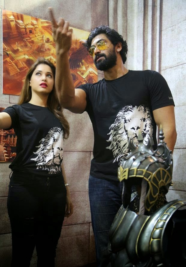 Tamannaah And Rana at Baahubali Movie Team Photos