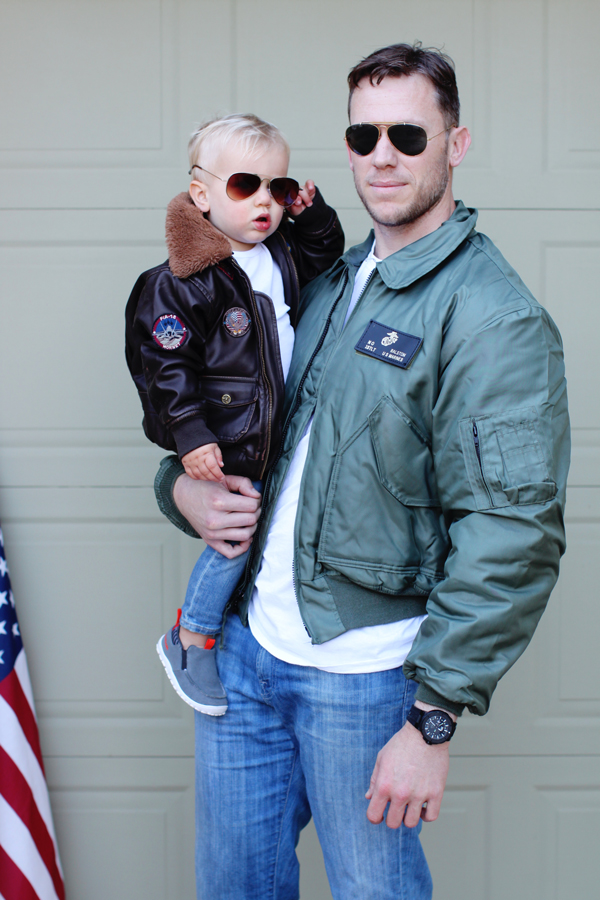 Father-son Top Gun Halloween costume