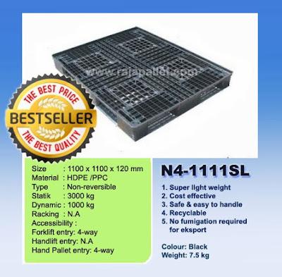 Pallet Plastik N4-1111SL 110 x 110 x 12