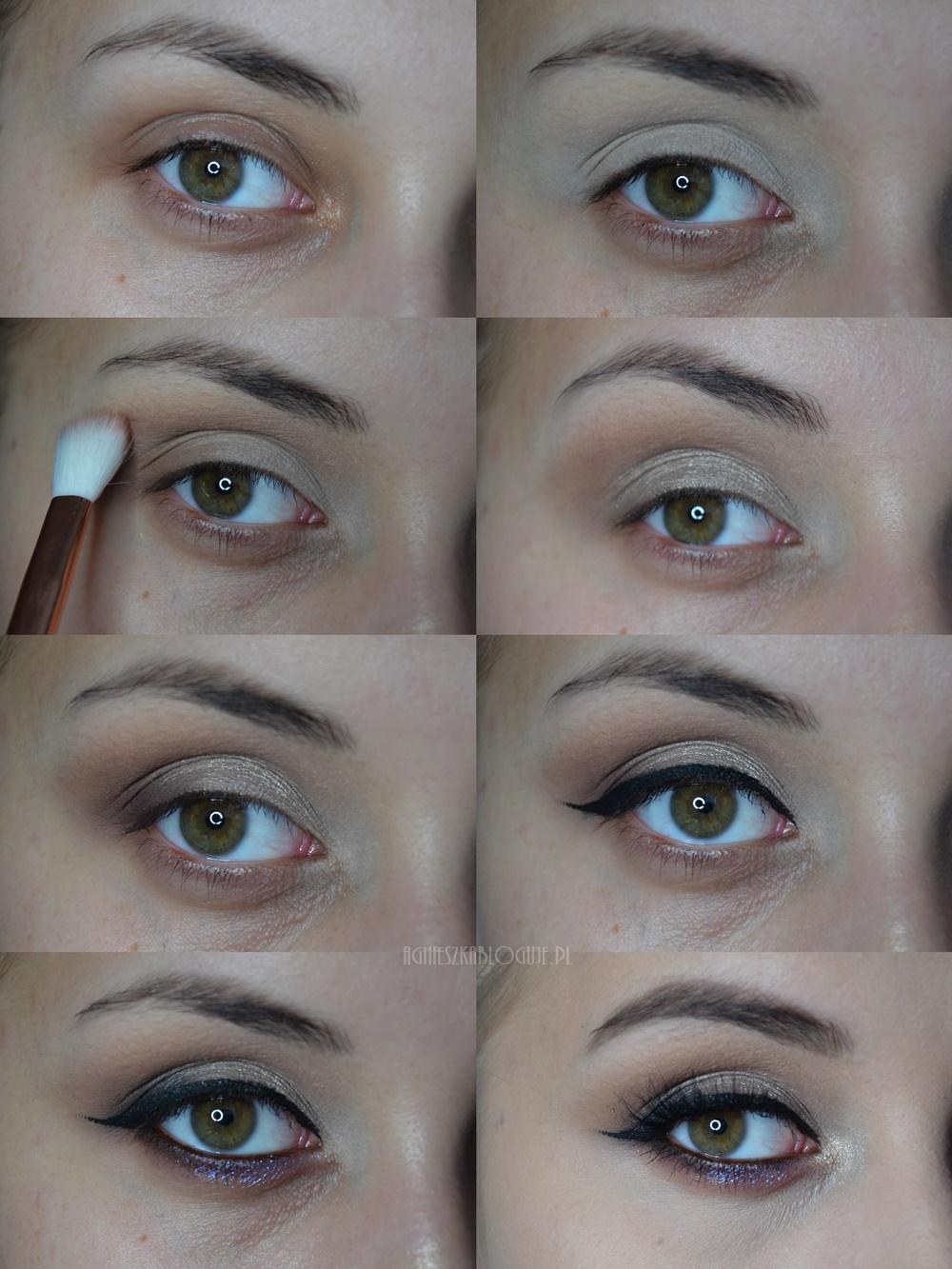 makijaż dla zielonych oczu krok po kroku