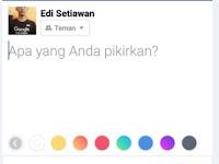 Cara Membuat Status Facbook Menjadi Warna-Warni