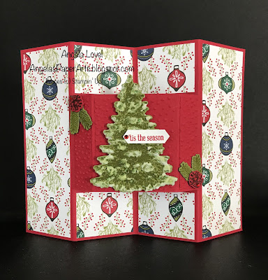 Stampin' Up! Winter Woods special fold card by Angela Lovel, Angela's PaperArts