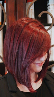 Stylish red bob