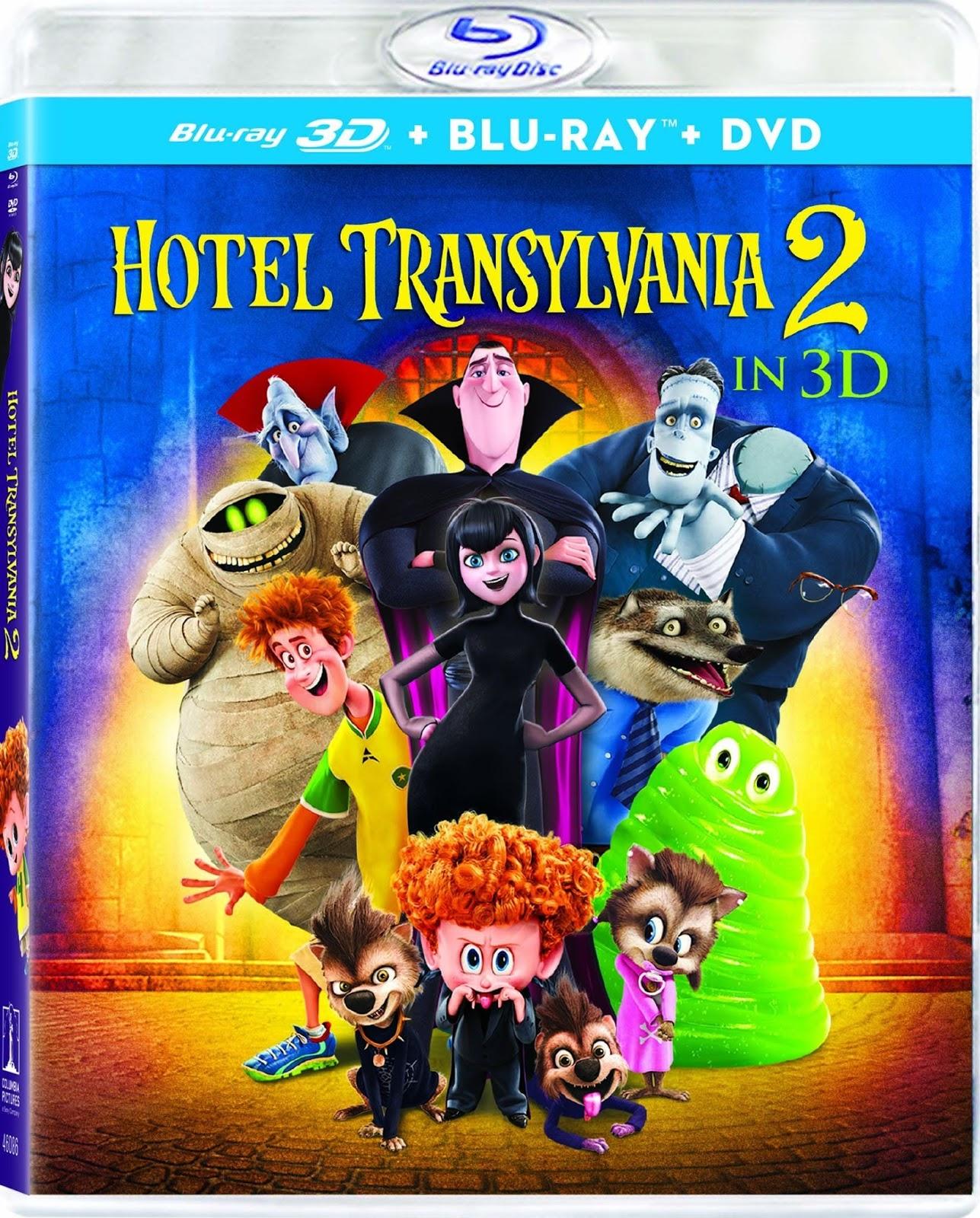 Hotel Transilvania 2 (2015) 1080p 2D y 3D BD25 Cover Caratula