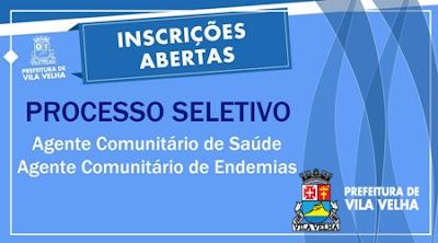 Processo seletivo Prefeitura de Vila Velha para ACE e ACS