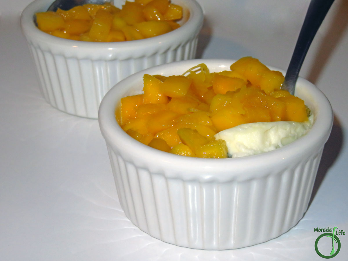 Morsels of Life - Mango Panna Cotta - Wow your friends by making your own sweet, creamy, and luxuriously elegant mango panna cotta - it's easier than you think, and only 5 ingredients!